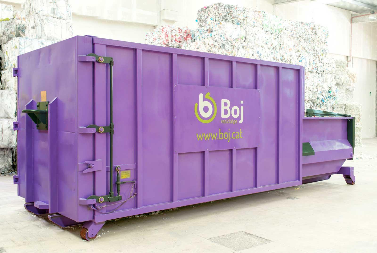 Contenidor autocompactador de Boj reciclatge - reciclaje